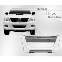 Bumper Hilux Cabine Simples Dupla 2012 13 2014 Branco Polar