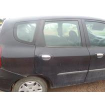 Porta Traseira Direita Do Honda Fit 2004 Sem Acessórios