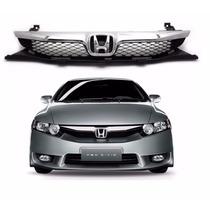 Grade Do Radiador Honda Civic 2009 Com Cromado
