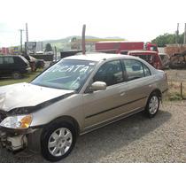Sucata Honda Civic 1.7 16v Automático Ano 01 02 03 04 05