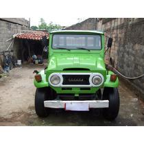 Toyota Bandeirante 78,78. Verde Carroceria De Madeira 4x4,