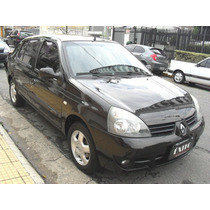 Renault Clio Sedan 1.0 Privilege Preto Flex 2008