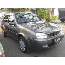 Ford Fiesta 1.6 Glx 4 Portas Cinza 2001