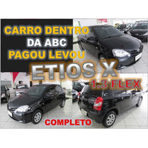 Toyota Etios 1.3 X Flex - Ano 2015 - Financiamento Facil