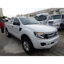 Ford Ranger Xls 2.5 Ano 2014 Ar-condicionado = Vw Toyota