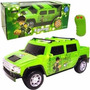 Carro Rádio Controle Ben 10 B-hummer 3 Funções Candide Verde