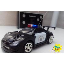 Carro Carrinho Atacado Controle Remoto Policia 5 Unidades