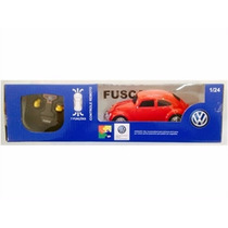 Carro Controle Remoto Volkswagen Fusca Vermelho 1:24 Ckstoys