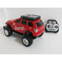 Carrinho Jeep Controle Remoto Pickup Jump 35cm Vermlh Ecoop