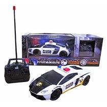 Carro Carrinho Controle Remoto Polícia De Elite Acende Farol