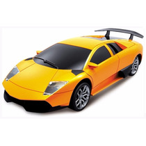 Carro Controle Remoto Lamborghini 1:24 7 Funções Amarelo