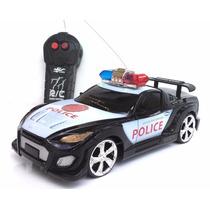 Carrinho Carro Viatura De Policia Controle Remoto Sem Fio