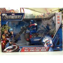 Moto Do Capitão América De Controle Remoto - Avengers