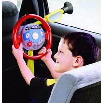 Volante Interativo Com Som E Luz Infantil Brinquedo Carro