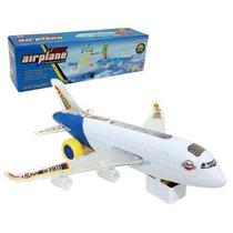 Avião New Airplane 360º Som E Luzes - Banana Toys