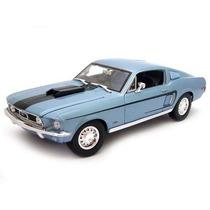 1968 Ford Mustang Gt Cobra Jet 1:18 Maisto Azul