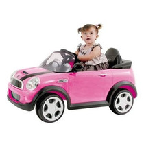 Carro Elétrico Infantil Mini Cooper Rosa Jessica Brinquedos
