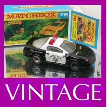 1993 Matchbox Lesney Police + Box Custom Carrinho 1/64