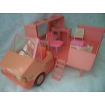 Antigo Carro Trailer Da Barbie Dos Anos 80 Estrela- Mattel