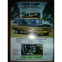 Folder Ford Camp Demec F1000 Pickup Caminhonete Cabine Dupla