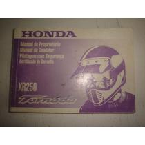 Manual Moto Honda Xr250 Tornado 2005 2006 2007 Original 250