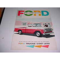 Folder Ford F100 F-100 Pickup Picape Furgao 58 1958 V8 F 100