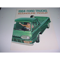 Folder Ford F100 E100 Picape Pickup Econoline 64 1964 V8