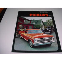 Folder Ford F100 F-100 Pickup Picape Furgao 74 1974 V8 F 100