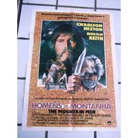 Cartaz Homens Montanha Charlton Heston Brian Keith + 5 Lobby