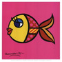 Poster (20 X 20 Cm) Swimmingly Pink Romero Britto