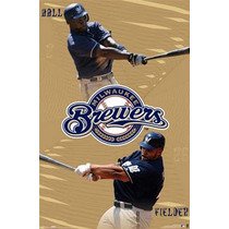 Poster (61 X 91 Cm) Milwaukee Brewers - Collage