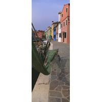 Houses Ao Longo A Estrada Burano Veneziano Lagoa Itália
