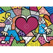 Poster (36 X 28 Cm) Heart Kids Romero Britto