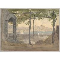 Vista De O Baía De Nápoles Com Monte Vesuvius Poster