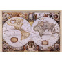 Poster (91 X 61 Cm) Map Of The World (antique Style)