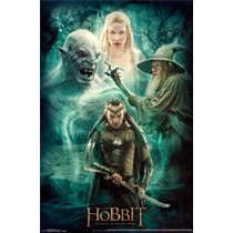 Poster (61 X 91 Cm) The Hobbit 3 - Collage