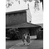 Poster (46 X 61 Cm) Kids Walking Into Catholic Church