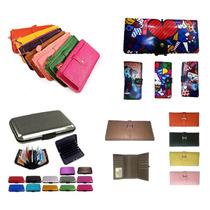 Kit 35 Carteiras Porta Cartão Bolsa De Mão Romero Britto