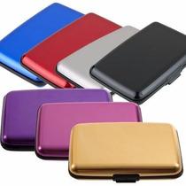 Carteira Porta Cartão Visita Crédito Alumínio Aluma