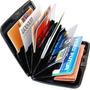 Carteira Porta Cartão Visita Crédito Alumínio A Prova Dágua