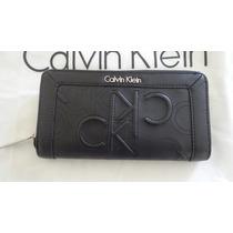Carteira Calvin Klein Feminina Preta100% Original Linda