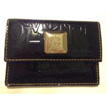 Carteira Porta Cartão Victor Hugo Original Verniz Preto