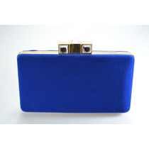 Carteira Bolsa Clutch Feminina Festa Veludo Azul Jh-15