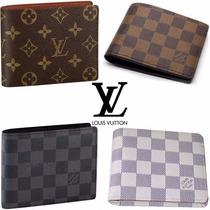 Carteira De Couro Louis Vuitton Damier Monogram 4 Modelos