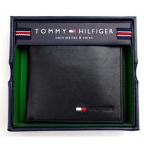 Carteira Tommy Hilfiger Em Couro Preto