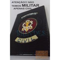 Capa Couro Legítimo Brasão Bombeiro Civil P22p Temos Militar