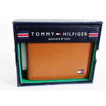 Carteira Tommy Hilfiger Em Couro Marrom Bronze