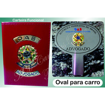 Kit Carteiras Porta Funcional+distintivo Ou Placa Carro Advo
