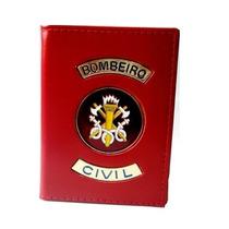 Porta Funcional Bombeiro Civil Vermelha ¿ 100% Couro