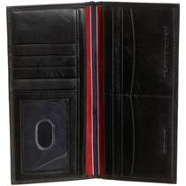 Carteira Tommy Hilfiger Pocket Couro Preta - Original